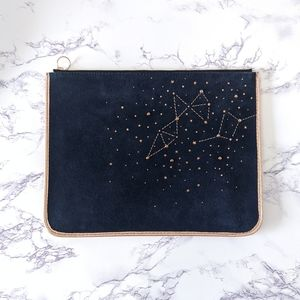 Fossil Blue Suede Constellation Tablet Pouch